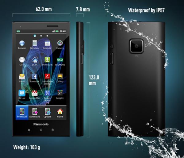 Смартфон Eluga от Panasonic для европейского рынка - детально