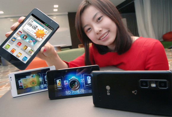 Новые 3D-смартфоны от LG - Optimus 3D Cube и Optimus 3D Max.