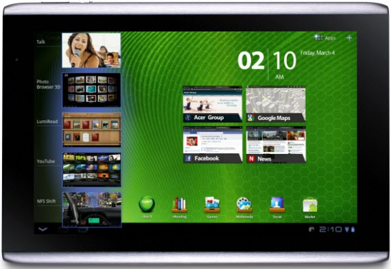 Android 4 для Acer Iconia Tab A500 и A100