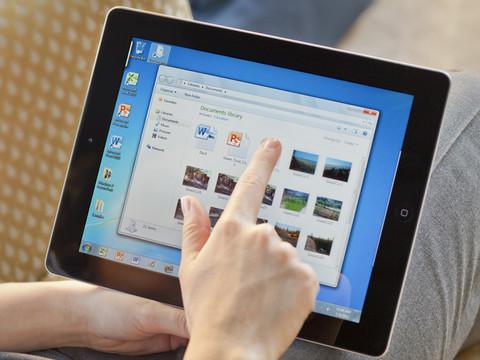 OnLive Desktop позволяет работать с документами Microsoft Office и Flash-контентом на iPad