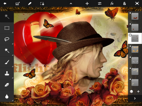 Приложение Adobe Photoshop Touch доступно для iPad