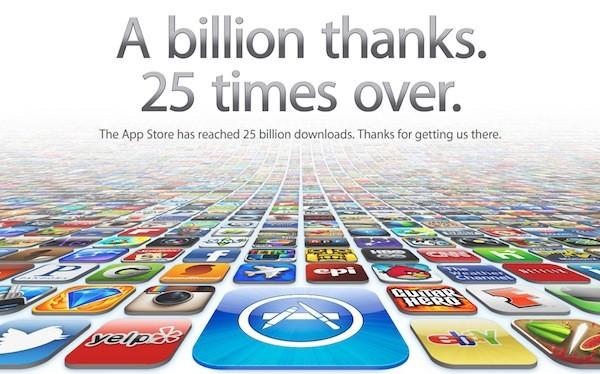 25 миллиардов (25.000.000.000) загрузок c App Store!