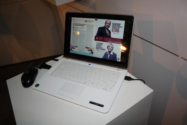 CeBIT 2012: Intel показал концепт ультрабука с сенсорным дисплеем