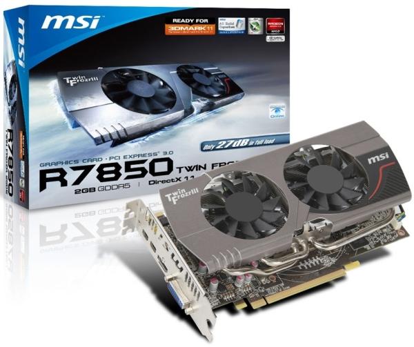 Серия графических карт MSI R7800 Twin Frozr