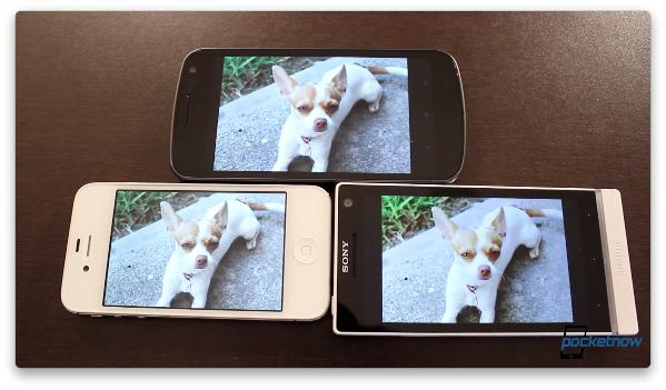 Sony Xperia S против Galaxy Nexus и iPhone 4S - по качеству экрана