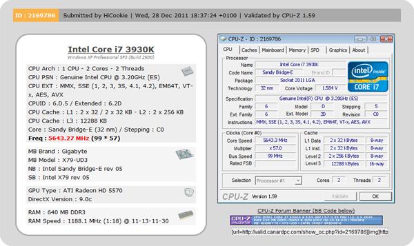 Поставлен новый рекорд по разгону Intel Core i7-3930K.