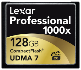 Lexar представила карты 1000X CompactFlash.