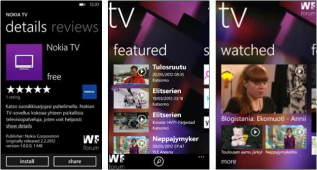 Nokia TV реальность, но пока только для финов