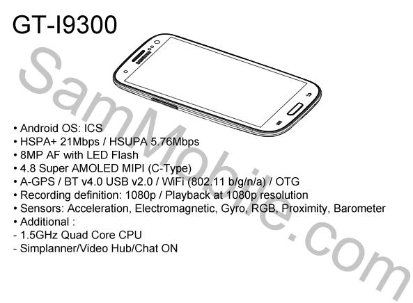 Galaxy S III - новая информация - новые противоречия
