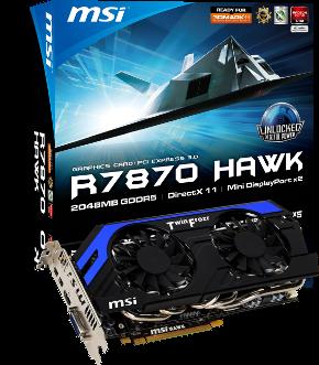 MSI R7870 Hawk взмывает в небо