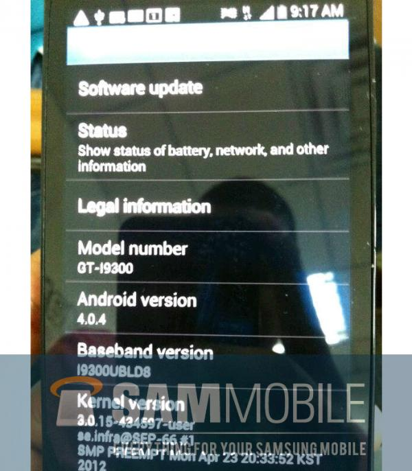 Samsung Galaxy S III - новые фотографии. Все-таки он синий!
