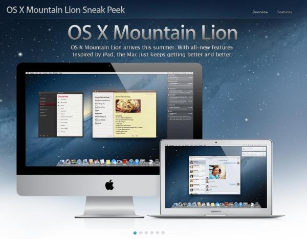 Требования для обновления ОС X Mountain Lion 10.8