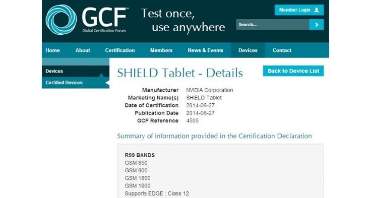 Планшет NVIDIA Shield 4G прошел сертификацию, известна дата